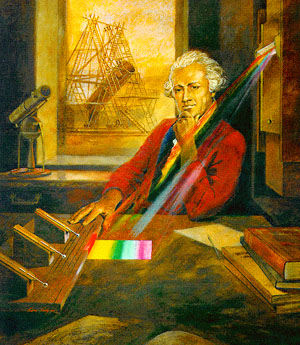 william herschel, innrauð geislun, sólin